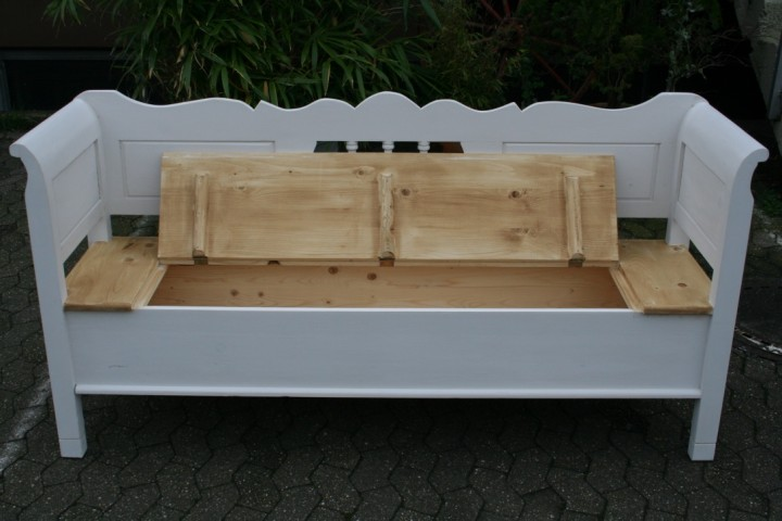 truhenbank weichholz shabby chic 183 cm m bel. Black Bedroom Furniture Sets. Home Design Ideas