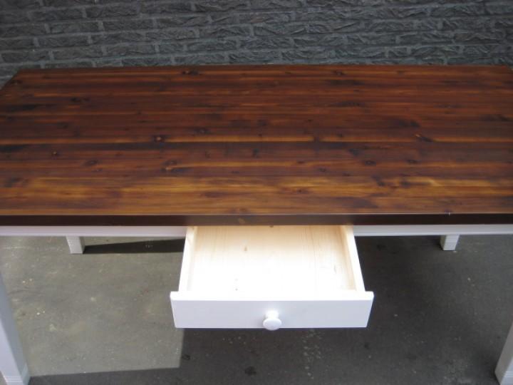 landhaus tisch massivholz eiche dunkel wei m bel wohnpalast m bel. Black Bedroom Furniture Sets. Home Design Ideas